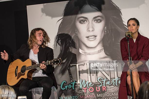 Pancho Cia and Martina Stoessel aka Tini Stoessel 'Got Me Started' Tour In Milan on October 12 2016 in Milan Italy