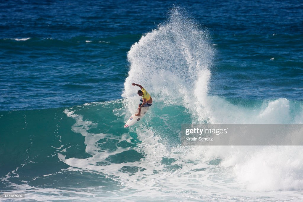 Pancho Sullivan of the United States surfs during the round of 64 during the Vans World Cup of Surfing on December 3, 2012 in North Shore, Hawaii.