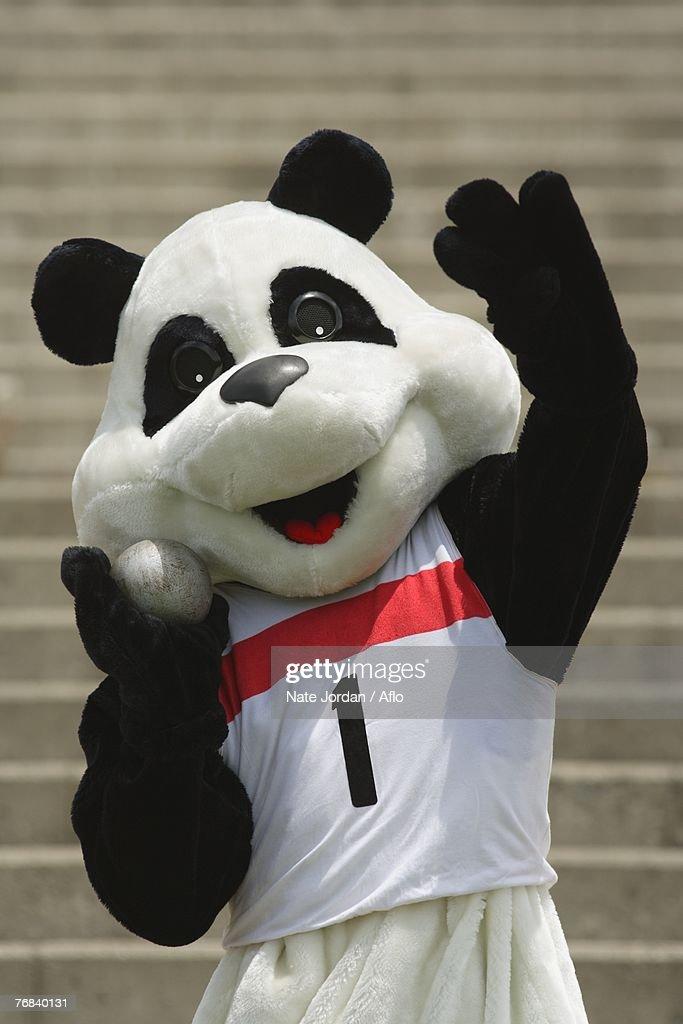 Panda Throwing a Shot Put : Stock Photo