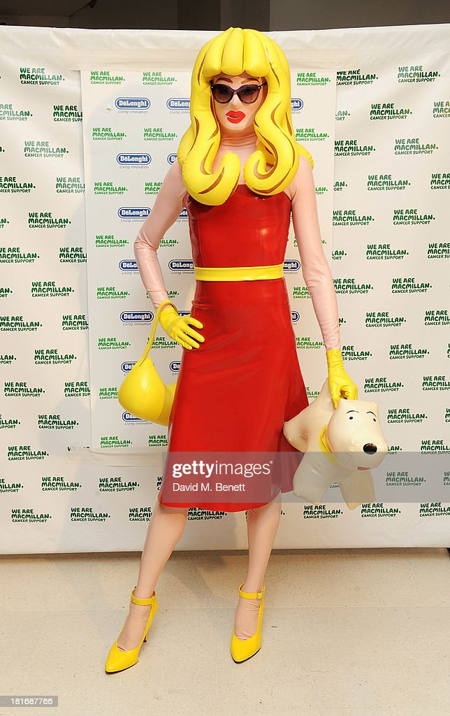 Pandemonia attends the Macmillan De'Longhi Art Auction, raising money for Macmillan Cancer Support, at Royal College of Art on September 23, 2013 in London, England