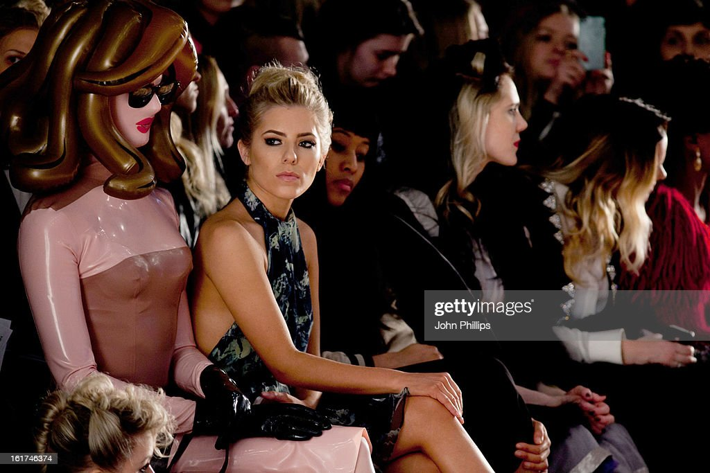Pandemonia, <a gi-track='captionPersonalityLinkClicked' href=/galleries/search?phrase=Mollie+King&family=editorial&specificpeople=5522262 ng-click='$event.stopPropagation()'>Mollie King</a> attend the Felder Felder show during London Fashion Week Fall/Winter 2013/14>> at Somerset House on February 15, 2013 in London, England.