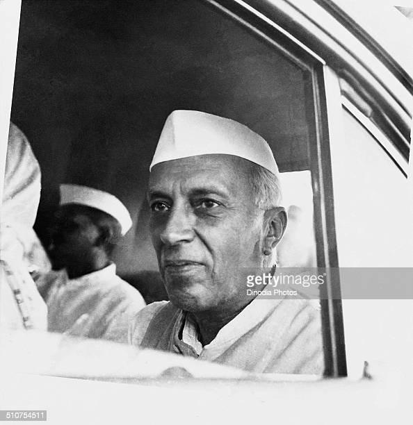Pandit Jawaharlal Nehru in cap Uttar Pradesh India 1953