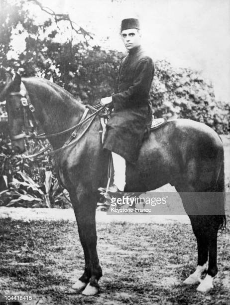 Pandit Jawaharlal NEHRU on horseback in the 1930's
