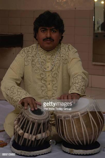 Pandit Ram Kumar Tabla player performing in New Delhi India