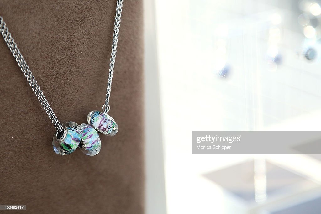 Pandora jewelry details at the Pandora Spring Collection 2014 Media Preview at Mondrian New York on December 4, 2013 in New York City.