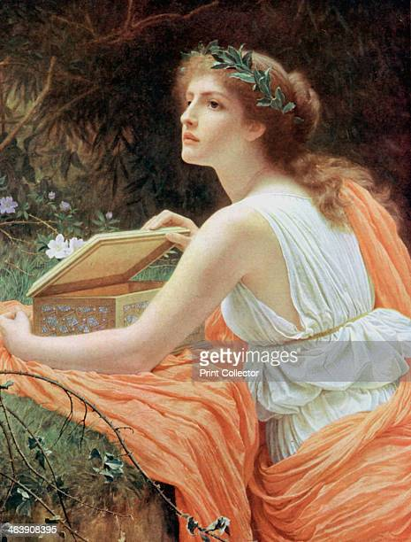 Pandora Pandora was the first mortal woman according to the Greek poet Hesiod She was sent by Zeus as a gift to Epithemus She brought a box which...