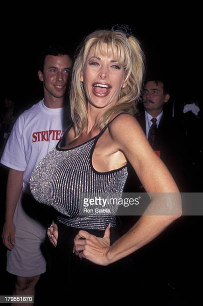Pandora Peaks attends the premiere of 'Striptease' on June 23 1996 at the Ziegfeld Theater in New York City