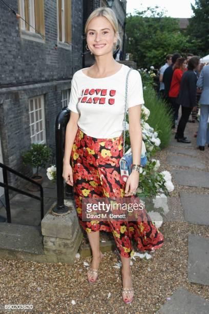 Pandora Sykes attends the ALEXACHUNG London Launch Summer 17 Collection Reveal at the Danish Church of Saint Katharine on May 30 2017 in London...