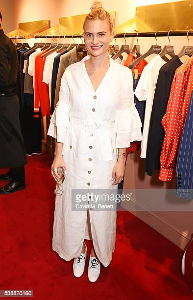 Pandora Sykes attends the launch of Bella Freud's numbered edition collection of sunglasses with Cutler Gross at her Chiltern Street store on June 8...