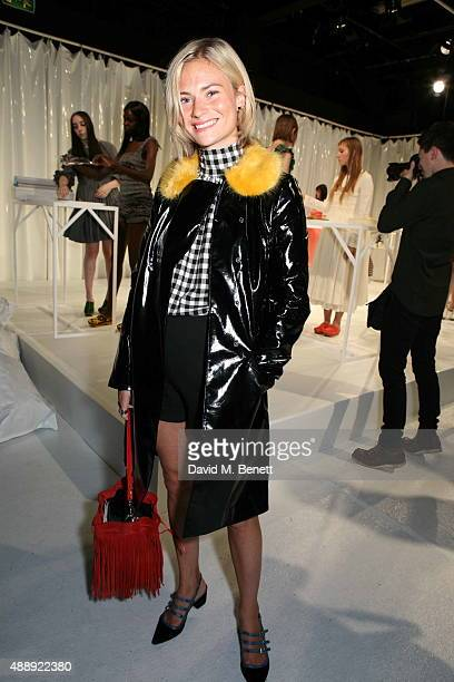 Pandora Sykes attends the Molly Goddard presentation during London Fashion Week Spring/Summer2016 at the BFC Presentation Space on September 18 2015...