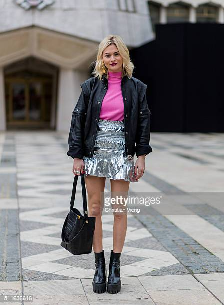 Pandora Sykes seen outside Mulberry during London Fashion Week Autumn/Winter 2016/17 on February 21 2016 in London England