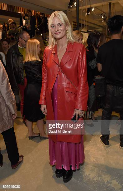 Pandora Sykes wearing Burberry at the Burberry September 2016 show during London Fashion Week SS17 at Makers House on September 19 2016 in London...