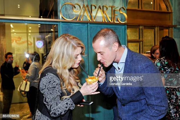 Pandora Vanderpump and Jason Sabo celebrate the Compartes Chocolatier Century City Flagship Store Opening on September 27 2017 in Los Angeles...