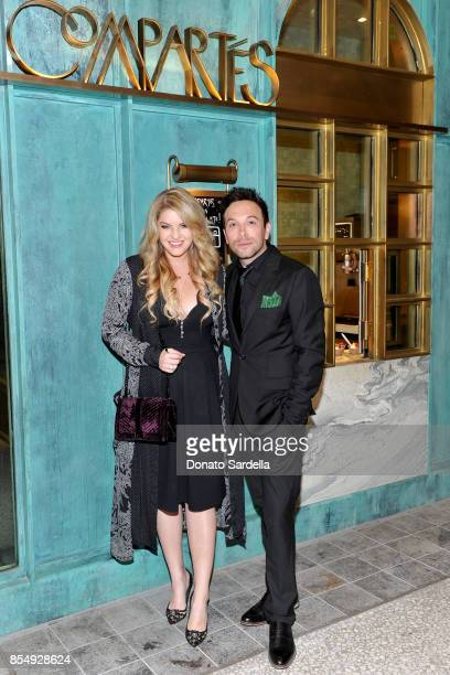 Pandora Vanderpump and Jonathan Grahm celebrate the Compartes Chocolatier Century City Flagship Store Opening on September 27 2017 in Los Angeles...
