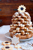 Pandoro (pan d'oro) is a traditional sweet yeast bread, most popular around Christmas and New Year.