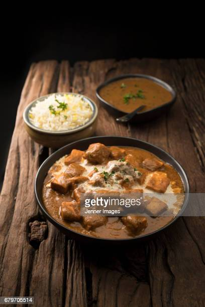 Paneer Butter Masala, Dal Makhani and Rice.