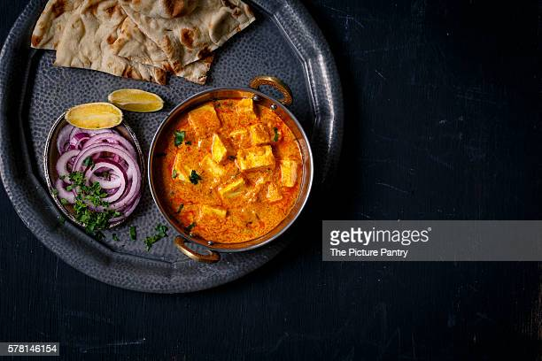 Paneer Butter Masala served with Nan & salad