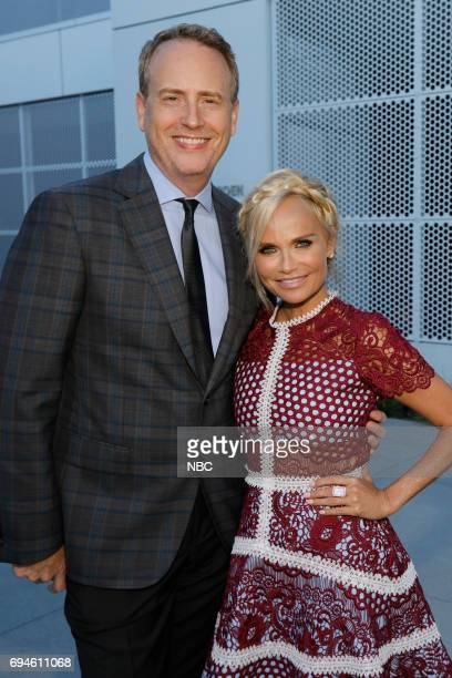 LIVE 'FYC Panel Discussion and Reception' Pictured Robert Greenblatt Chairman NBC Entertainment Kristin Chenoweth at the Saban Media Center at the...