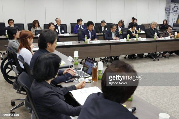 A panel examining entries for the official mascots of the 2020 Tokyo Olympics and Paralympics is held in Tokyo on Sept 28 2017 The panel narrowed...