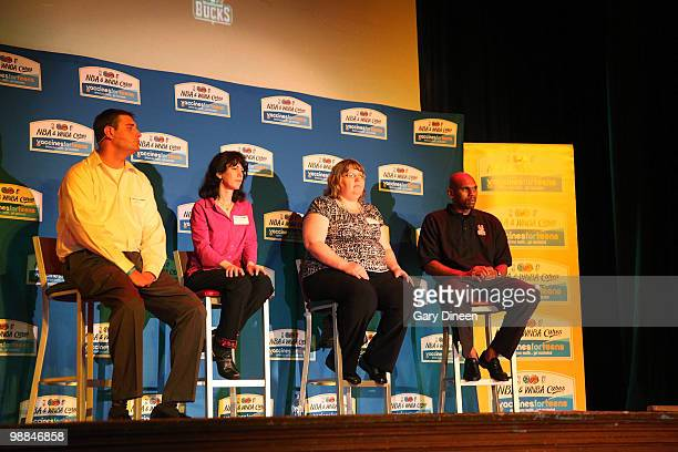 Panel members John Kach meningococcal disease survivor Wendy Ehrman MD Angela Hagy from the City of Milwaukee Health Department and Jerry Stackhouse...