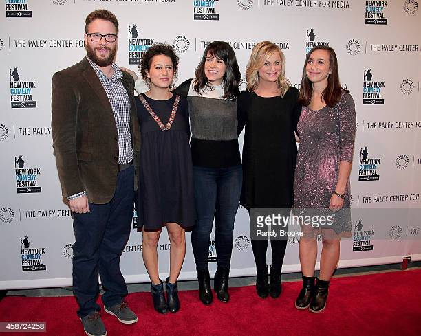 Panel Moderator Seth Rogen show creators/stars Ilana Glazer and Abbi Jacobson Executive Producer Amy Poehler and show Director Lucia Aniello attend...
