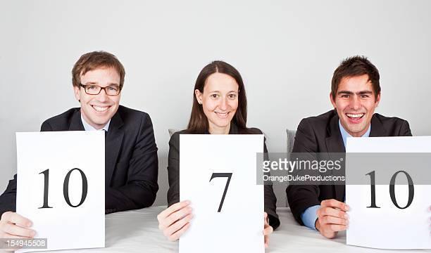 Panel de juges avec très bon résultat!