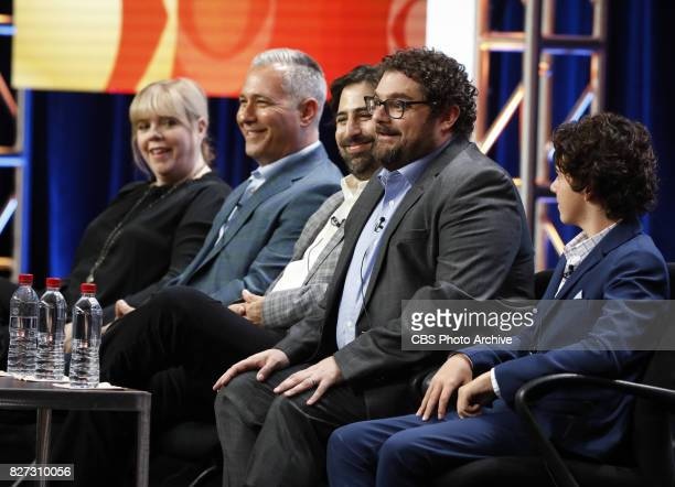 Panel session for the new CBS show ME MYSELF I at the TCA presentations at the Beverly Hilton Hotel in Los Angeles August 1 2017 Pictured Dana Honor...