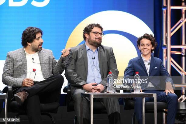 Panel session for the new CBS show ME MYSELF I at the TCA presentations at the Beverly Hilton Hotel in Los Angeles August 1 2017 Pictured Dan...