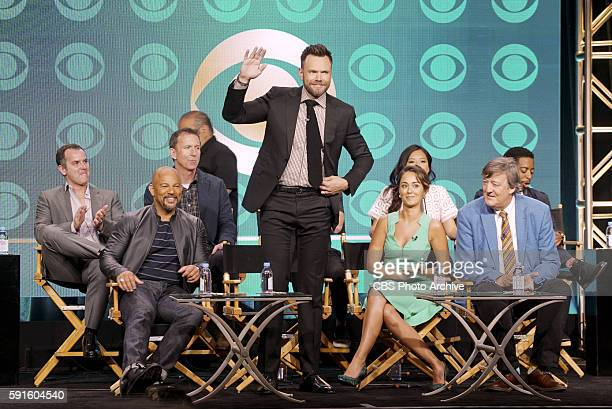 Panel session for the new CBS show THE GREAT INDOORS at the TCA presentations at the Beverly Hilton Hotel in Los Angeles August 10 2016 Pictured Back...