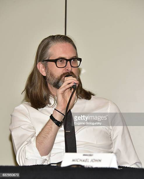 Panelist Michael John Warren speaks at BroadwayCon 2017 at The Jacob K Javits Convention Center on January 28 2017 in New York City