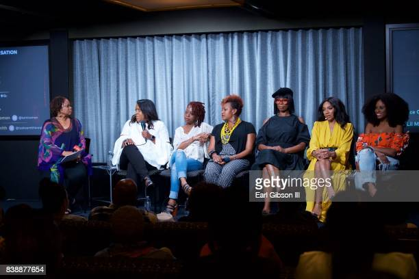 Panelist moderator Pat Prescott SVP of TV One D'Angela Proctor Cas SigersBeedles Tia A Smith director/actress Tasha Smith actress Niatia 'Lil Mama'...