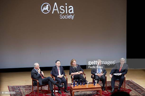 Panelists Robert Oxnam who served as Asia Society's president from 1981 to 1992 Ronnie C Chan one of Hong Kong's and China's top property developers...