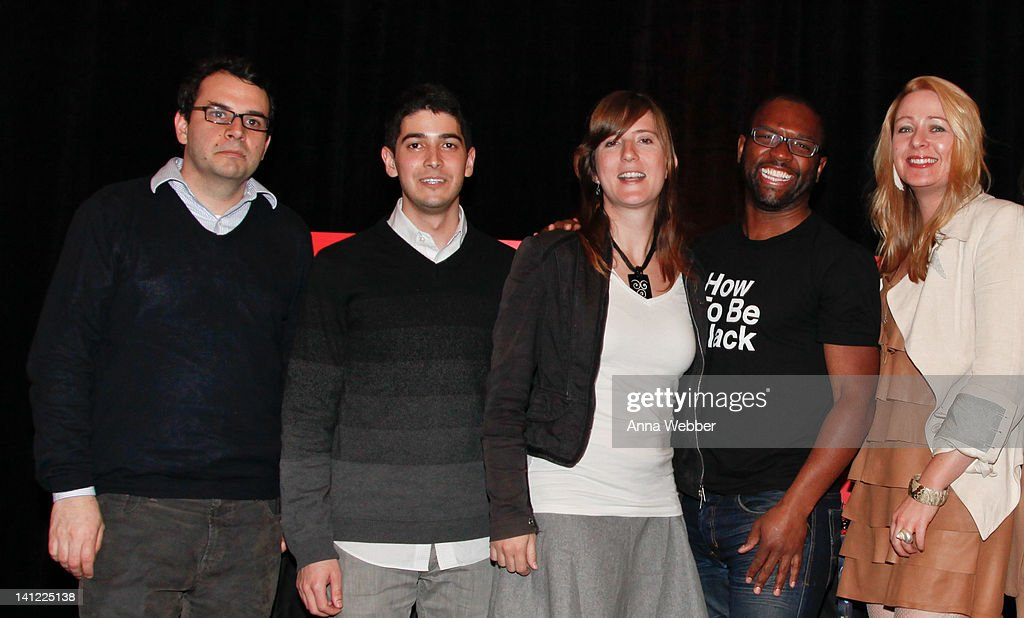 Panelists Steve Daniels, Nandu Madhava, Kellee Santiago, Baratunde Thurston and Amanda Parks pose during TED At SXSW Presented By HTC - Day 2 at The Driskill Hotel on March 12, 2012 in Austin, Texas.