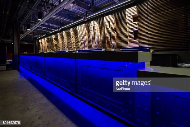 Panels under the main bar of the Fillmore Philadelphia resembles visual elements of the Benjamin Franklin Bridge The entertainment venue in the...