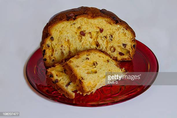 Panettone with slices