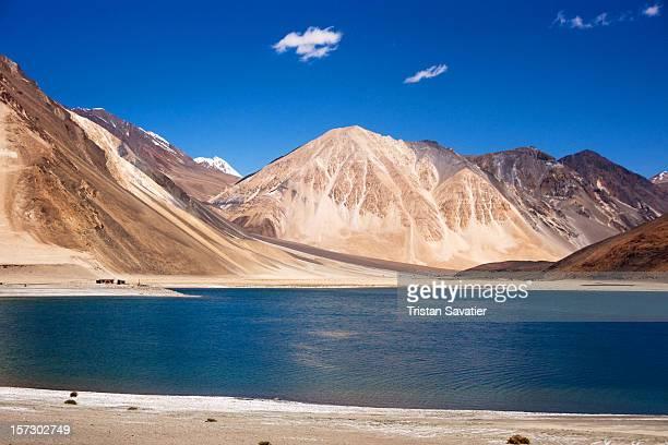 Pangong lake in the Himalaya Mountains
