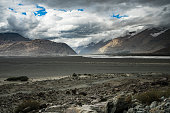 ์ีPangong - Nubra route trip with Himalaya mountain high land.