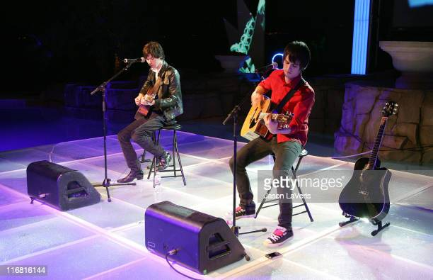 Panic At the Disco at the Mosci Runway Show on October 25 2007 in Las Vegas Nevada