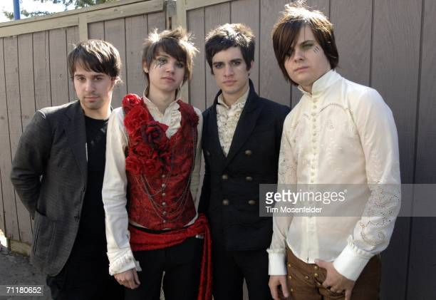 Panic at the Disco backstage at of Live 105's BFD 2006 at Shoreline Amphitheatre on June 10 2006 in Mountain View California