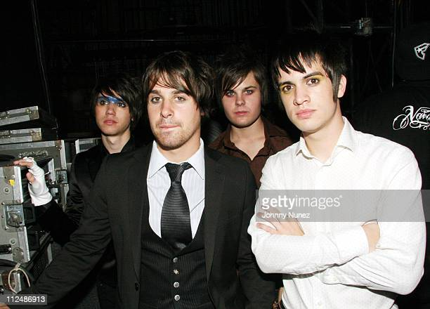 Panic at the disco during Boost Mobile RockCorps Concert at NYC's Radio City Music Hall Inside September 23 2006 at Radio City in New York City New...