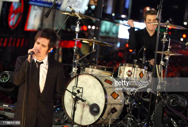 Panic at the Disco during NBC's New Year's Eve 2007 with Carson Daly Panic at the Disco Performance at Times Square in New York City New York United...