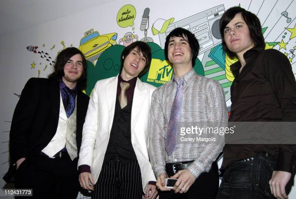 Panic at the Disco during Panic At The Disco Visits MTV2's 'TMinus Rock' February 8 2006 at MTV Studios in New York City New York United States