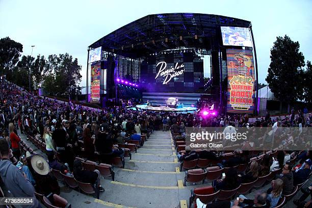 Panic at the Disco performs onstage at the KROQ Weenie Roast Y Fiesta 2015 at Irvine Meadows Amphitheatre on May 16 2015 in Irvine California