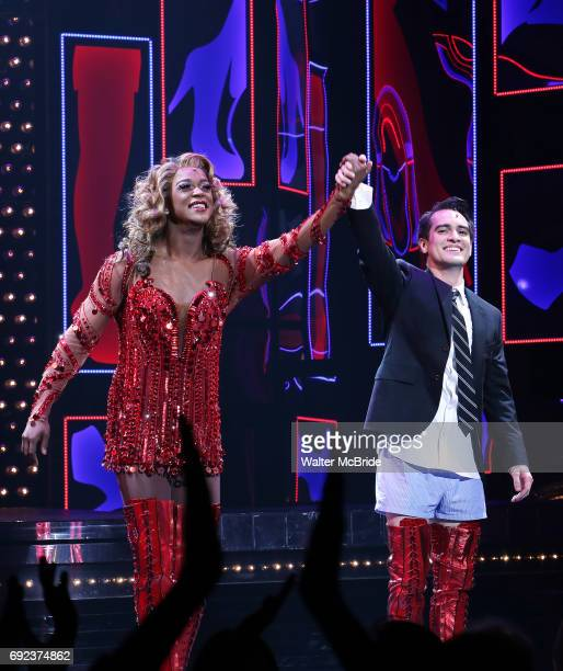 'Panic at The Disco's Brendon Urie makes his broadway debut as 'Charlie Price' in 'Kinky Boots' with J Harrison Ghee Broadway at The Al Hirschfeld...