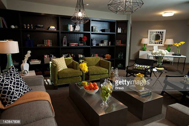 LEWIS 'Panic in Pasadena' Episode 105 Pictured Living room and office after renovation