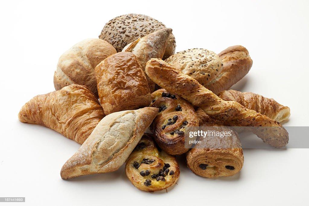panini, croissants, Danish, pain au chocola, whole wheat buns XXXL