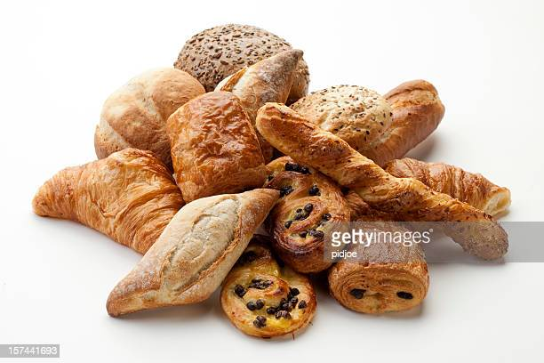 panini, croissants, Danish, pain au chocola, whole wheat buns XXXL