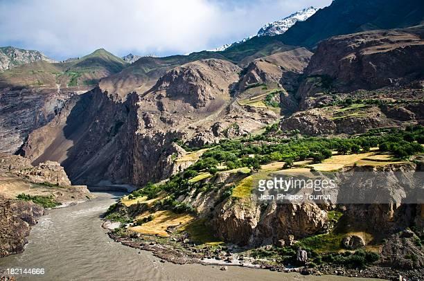 Panj River in the Himalayas