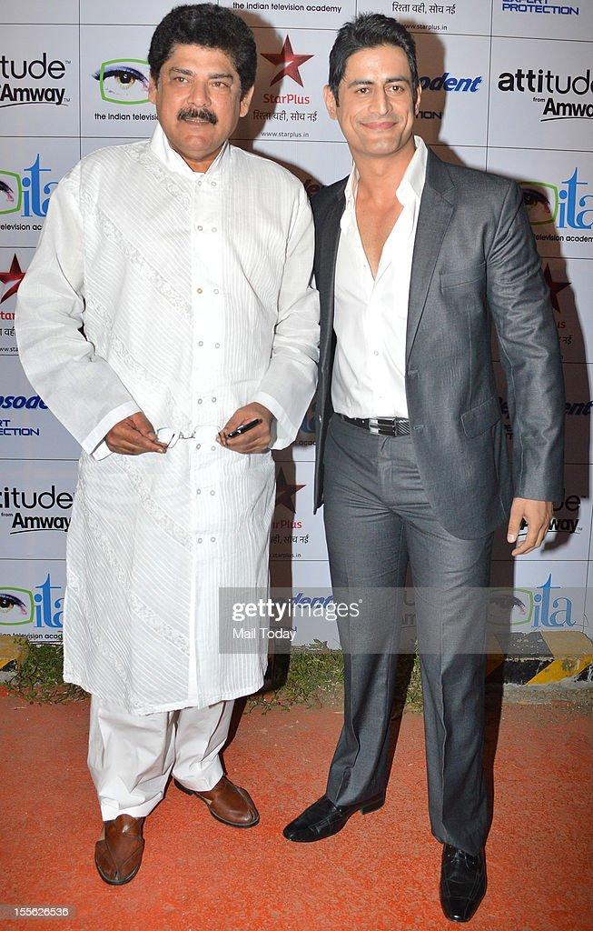 Pankaj Dheer (L) during Indian Television Academy Awards 2012 (ITA Awards), held in Mumbai on November 4, 2012.