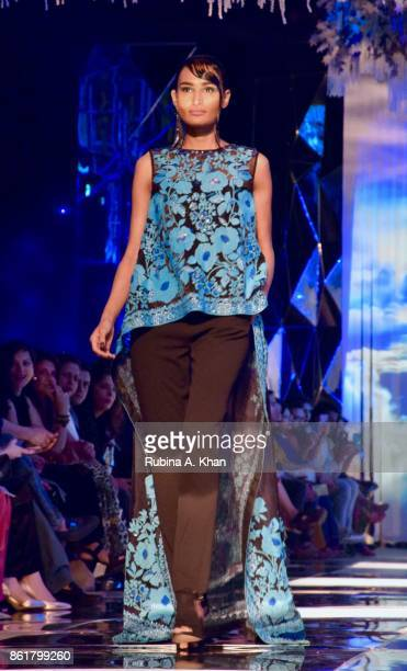 Pankaj Nidhi's pret collection at the grand finale of the Fashion Design Council of India's 30th edition of India Fashion Week Spring Summer 2018...